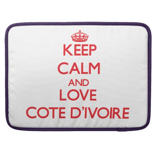 Guarde la calma y ame a Cote D'Ivoire Funda Macbook Pro