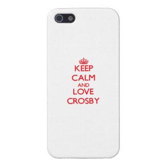 Guarde la calma y ame a Crosby iPhone 5 Carcasa