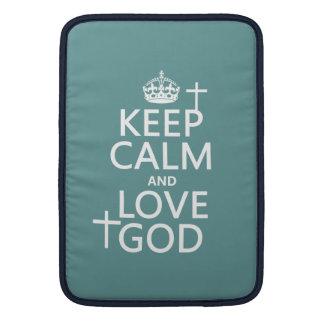 Guarde la calma y ame a dios - todos los colores fundas para macbook air