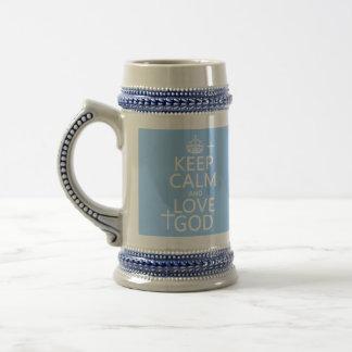 Guarde la calma y ame a dios - todos los colores tazas de café