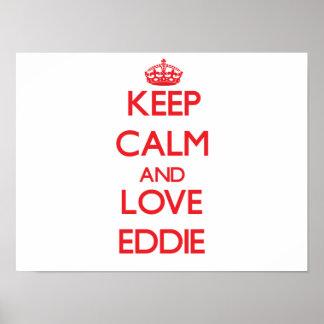 Guarde la calma y ame a Eddie Póster