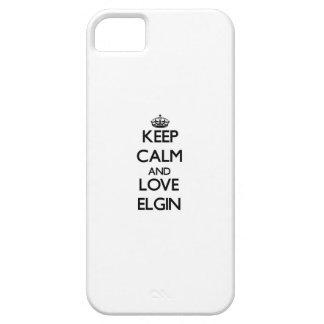 Guarde la calma y ame a Elgin iPhone 5 Funda
