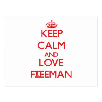 Guarde la calma y ame a Freeman Postal