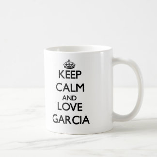Guarde la calma y ame a García Taza De Café
