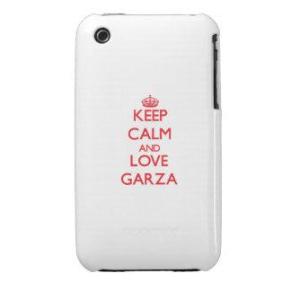 Guarde la calma y ame a Garza iPhone 3 Fundas
