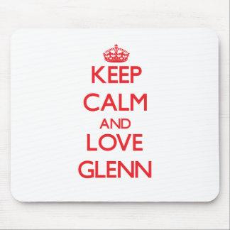Guarde la calma y ame a Glenn Tapete De Raton