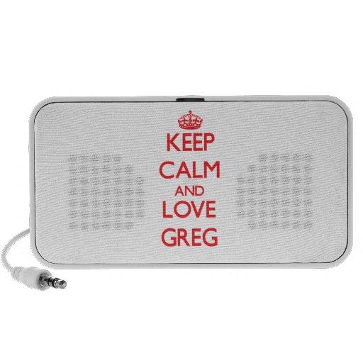 Guarde la calma y ame a Greg iPod Altavoces