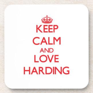 Guarde la calma y ame a Harding Posavasos De Bebida