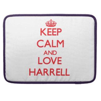 Guarde la calma y ame a Harrell Fundas Macbook Pro