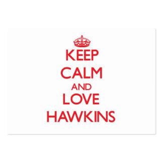 Guarde la calma y ame a Hawkins Plantillas De Tarjeta De Negocio