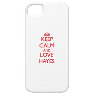 Guarde la calma y ame a Hayes iPhone 5 Case-Mate Fundas