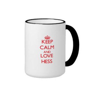 Guarde la calma y ame a Hess Taza De Café