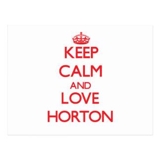 Guarde la calma y ame a Horton Tarjetas Postales