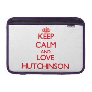 Guarde la calma y ame a Hutchinson Funda MacBook