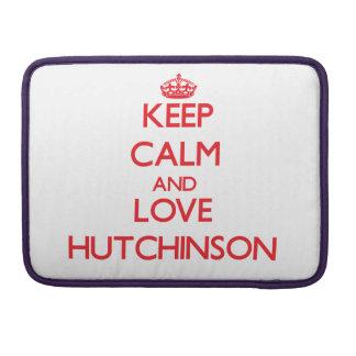 Guarde la calma y ame a Hutchinson Funda Macbook Pro