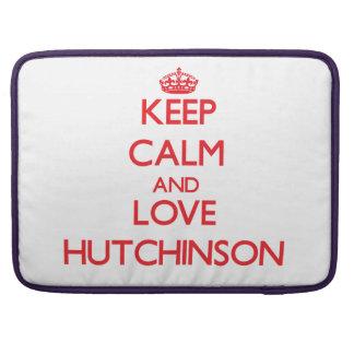 Guarde la calma y ame a Hutchinson Funda Para Macbooks