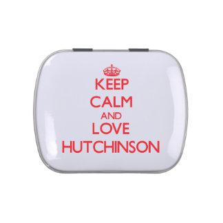Guarde la calma y ame a Hutchinson Jarrones De Dulces