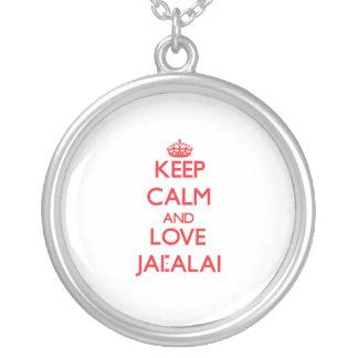 Guarde la calma y ame a Jai-Alai Joyería