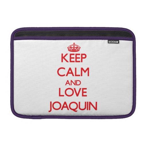 Guarde la calma y ame a Joaquín Funda Macbook Air