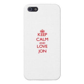 Guarde la calma y ame a Jon iPhone 5 Protector