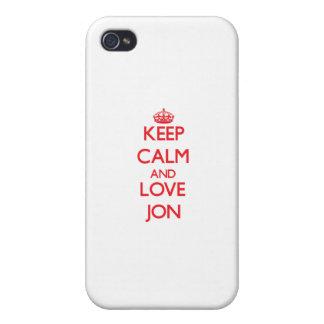 Guarde la calma y ame a Jon iPhone 4/4S Carcasas
