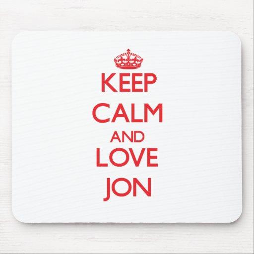 Guarde la calma y ame a Jon Tapete De Raton