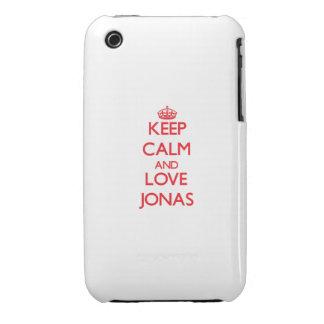 Guarde la calma y ame a Jonas iPhone 3 Protector