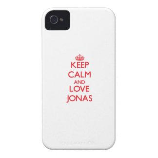 Guarde la calma y ame a Jonas iPhone 4 Carcasas