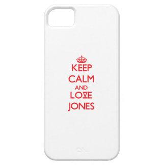 Guarde la calma y ame a Jones iPhone 5 Case-Mate Protector