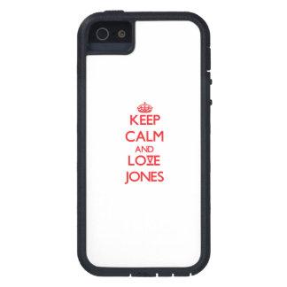 Guarde la calma y ame a Jones iPhone 5 Protector