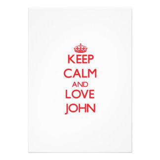 Guarde la calma y ame a Juan Invitacion Personal