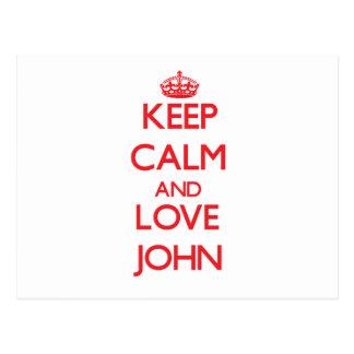 Guarde la calma y ame a Juan Postales