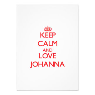 Guarde la calma y ame a Juana Invitacion Personalizada
