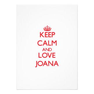 Guarde la calma y ame a Juana Comunicados Personalizados