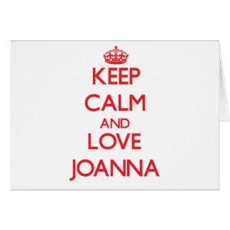 Guarde la calma y ame a Juana Tarjeta