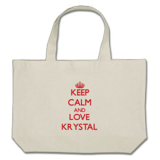 Guarde la calma y ame a Krystal Bolsas De Mano