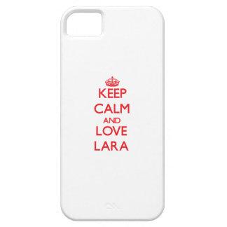 Guarde la calma y ame a Lara Funda Para iPhone 5 Barely There