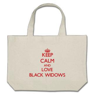 Guarde la calma y ame a las viudas negras bolsa