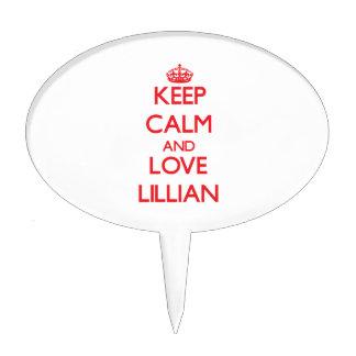 Guarde la calma y ame a Lillian Figuras De Tarta