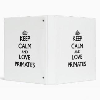 Guarde la calma y ame a los primates