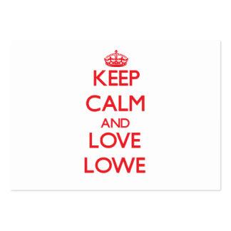 Guarde la calma y ame a Lowe Tarjeta Personal