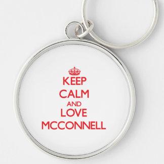 Guarde la calma y ame a Mcconnell Llaveros