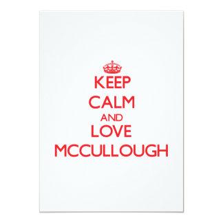 Guarde la calma y ame a Mccullough Invitación 12,7 X 17,8 Cm