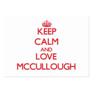 Guarde la calma y ame a Mccullough Plantillas De Tarjetas De Visita
