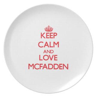 Guarde la calma y ame a Mcfadden Plato