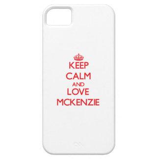 Guarde la calma y ame a Mckenzie iPhone 5 Case-Mate Cobertura