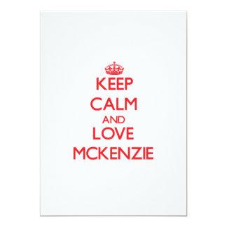 Guarde la calma y ame a Mckenzie Comunicado