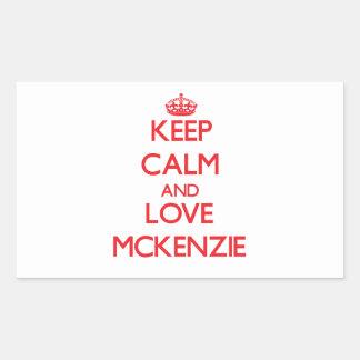 Guarde la calma y ame a Mckenzie Rectangular Altavoz