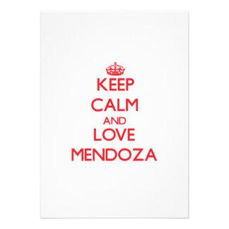 Guarde la calma y ame a Mendoza Anuncio Personalizado