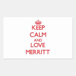 Guarde la calma y ame a Merritt Rectangular Altavoces